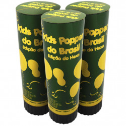 Kit lança confete do Brasil - 3 unidades