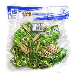 Palitos bandeira do Brasil - Pacote com 200 unidades - Acessórios do Brasil