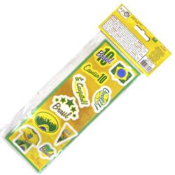 Cartela de adesivos do Brasil - 30 adesivos - Artigos do Brasil