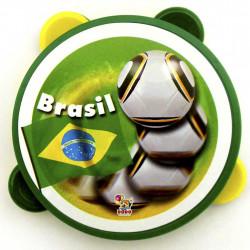 Mini pandeiro com tema do Brasil - Produtos para copa do mundo