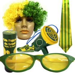 Kit do Brasil 1 - Kit do torcedor para copa do mundo