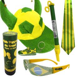 Kit do Brasil 3 - Kit do torcedor para copa do mundo