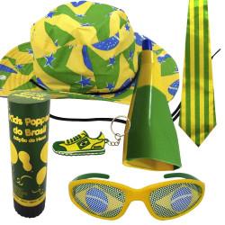 Kit do Brasil 5 - Kit do torcedor para copa do mundo