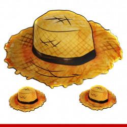 Painel chapéu de palha festa junina cartonado - 3 peças - Decoração de festa junina