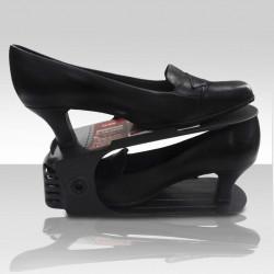 Sapateira Organizador De Sapatos Ajustável Preto - 1, 5 ou 10 unidades