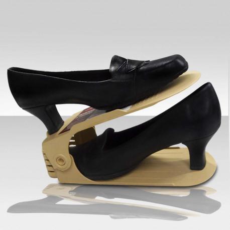 Sapateira Organizador de Sapatos Ajustável Bege - 1, 5 ou 10 unidades