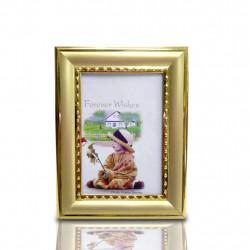 Porta Retratos Retrô 6cm x 9cm Dourado ou Prata (pequeno)