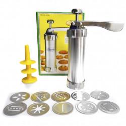 Máquina De Modelar Biscoito 10 Formas de Biscoitos e 4 Bicos para Decorar Bolos