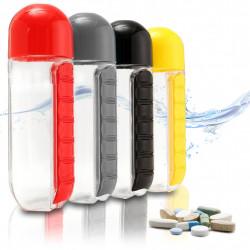 Garrafa De Água Plástica Com Porta Comprimidos