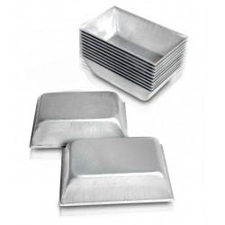 Forminhas Salgados Tropical Fundo Fixo em alumínio Fest Formas 12 peças