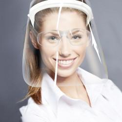 Máscara Facial Visor Protetor Anti Respingo e Óculos Visor transparente