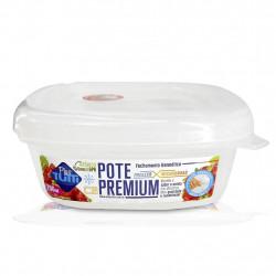 Pote Premium Hermético Quadrado 796ml Transparente - Plastutti