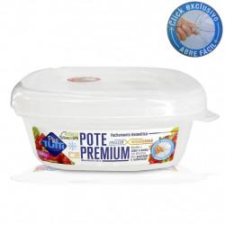 Pote Premium Hermético Quadrado 1178ml Transparente - Plastutti