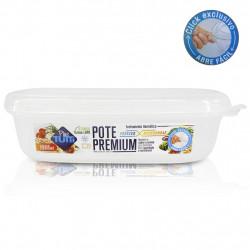 Pote Premium Hermético Retangular 1400ml Transparente - Plastutti