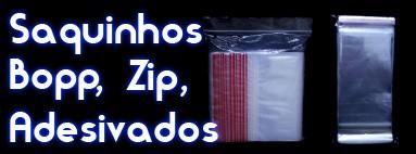 Saquinhos zip e adesivados